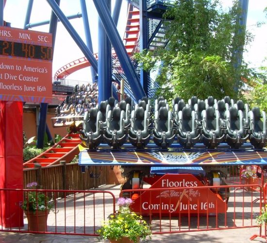 Theme Parks and Themed Environments - Busch Gardens Sheikra Floorless Conversion